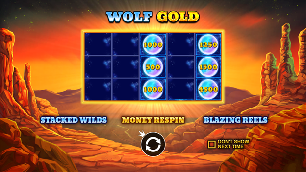 Start to play Wolf Gold slot