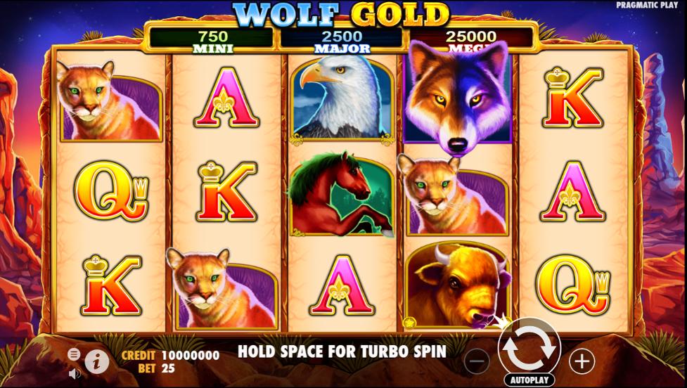 Wolf Gold slot gameplay
